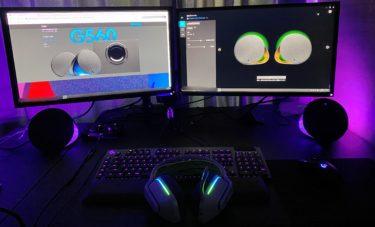 【G560】ロジクール LIGHTSYNC PCゲーミング スピーカーを紹介!インテリアにも最適!